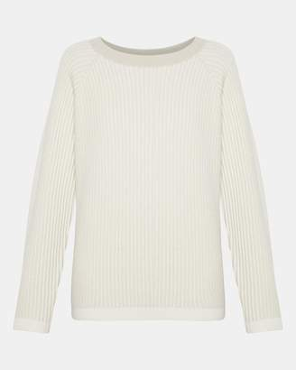 Theory Cashmere Oversized Rib Pullover