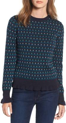 Treasure & Bond Ruffle Trim Pullover Sweater