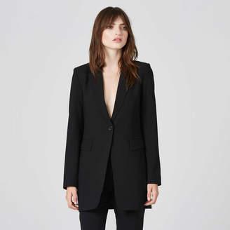 DSTLD Womens Oversized Blazer in Black