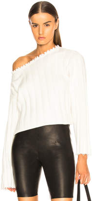 Alexander Wang Off Shoulder Sweater in Ivory | FWRD
