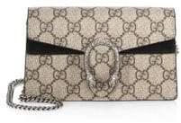 Gucci Women's Dionysus GG Supreme Mini Chain Shoulder Bag - Taupe