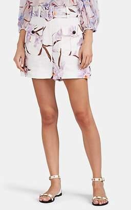 Zimmermann Women's Orchid-Print Linen Shorts