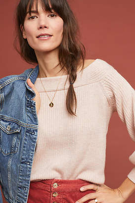 Moth Dancer Off-The-Shoulder Sweater