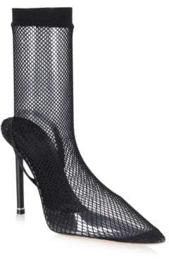Alexander Wang Caden High Heel Fishnet Booties
