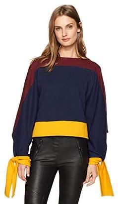 BCBGMAXAZRIA Women's Kourney Knit Colorblocked Pullover