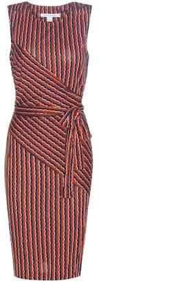Diane von Furstenberg Ashlie printed silk wrap dress