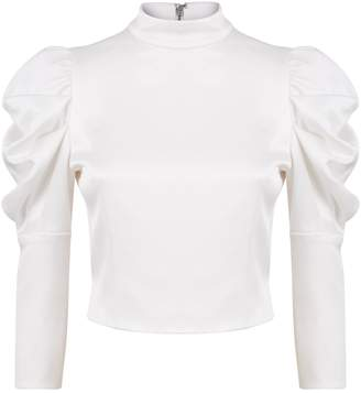 Alice + Olivia Brenna Puff Sleeve Blouse