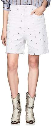 Etoile Isabel Marant Women's Liny Distressed Denim Shorts - White