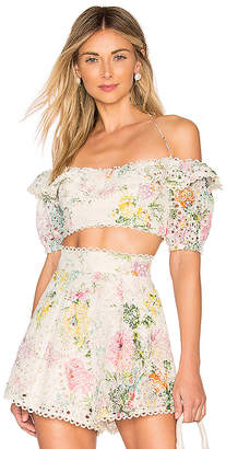 Zimmermann Heathers Off Shoulder Top