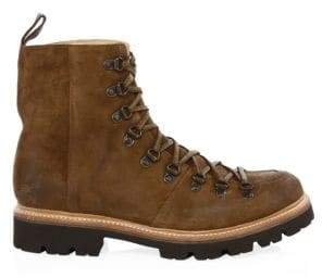 Grenson Men's Suede Hiking Boots - Brown - Size 6
