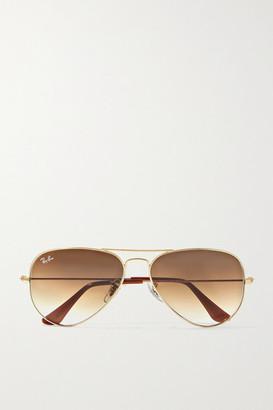 Ray-Ban Aviator Gold-tone Sunglasses
