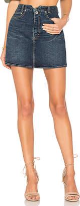 Free People She's All That Denim Mini Skirt.