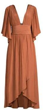 Ramy Brook Women's Kinslie Plunging Neckline Dress - Terracotta - Size 00