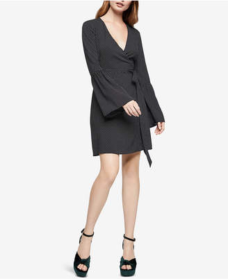 BCBGeneration Bell-Sleeve Faux-Wrap Dress