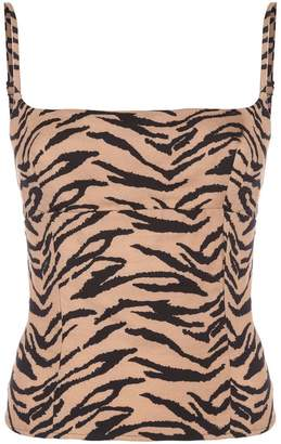 Reformation Grace animal-print top