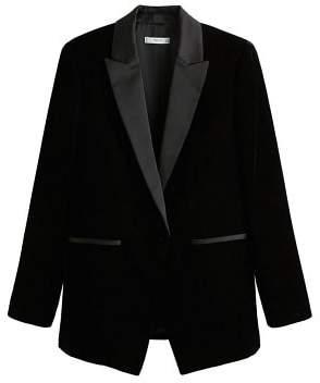 MANGO Velvet suit blazer