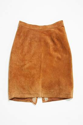 Vintage Loves Vintage 1980s Suede Skirt