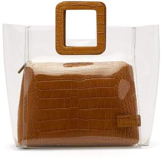 Staud - Shirley Pvc And Crocodile Effect Leather Tote - Womens - Tan