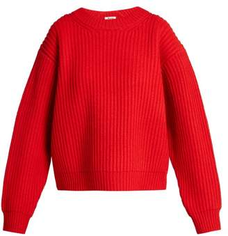Acne Studios Oversized Wool Knit Sweater - Womens - Red