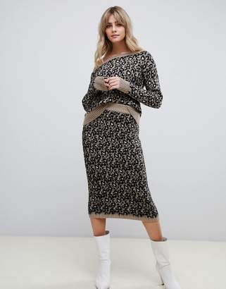 Asos Design DESIGN two-piece leopard skirt