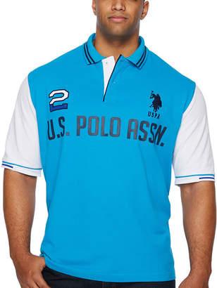 U.S. Polo Assn. USPA Mens Short Sleeve Polo Shirt Big and Tall