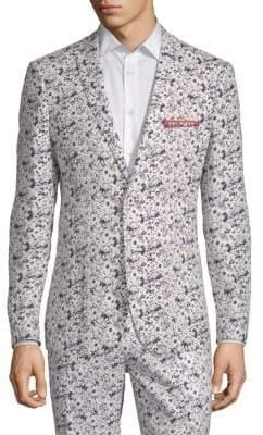 Floral Linen Cotton Sport Jacket
