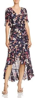 Parker Demi Floral Faux-Wrap Dress