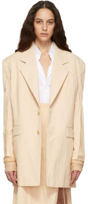 Y/Project Beige Sports Blazer