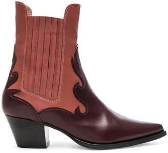 Alberta Ferretti Western Boots in Burgundy & Pink | FWRD