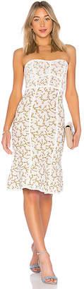 BCBGMAXAZRIA Lynne Jacquard Strapless Dress