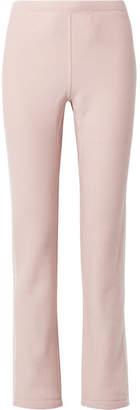 Rag & Bone Racer Striped Cotton-terry Track Pants - Pastel pink
