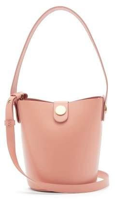 Sophie Hulme Nano Swing Leather Bucket Bag - Womens - Light Pink