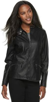 Apt. 9 Women's Faux-Leather Moto Jacket