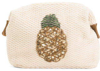 Embellished Pinapple Cosmetic Case