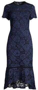 Shoshanna Women's Mulholland Lace Midi Dress - Navy - Size 0