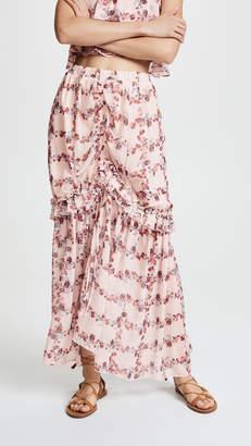 Endless Rose Fence of Roses Ruffled Skirt