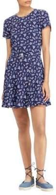 Polo Ralph Lauren Women's Belted Mini Dress - Ships Wheel Print - Size 6