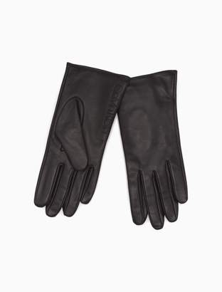 Calvin Klein smooth leather gloves