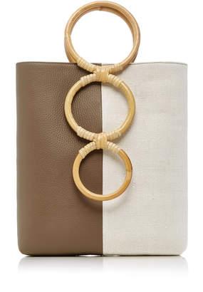Carolina Santo Domingo Petra Mini Leather Tote Bag With Bamboo Handles