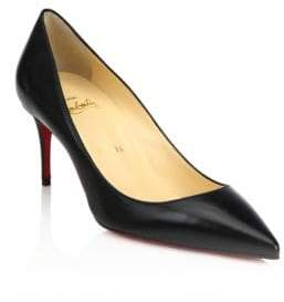 Christian Louboutin Women's Decollete 70 Leather Pumps - Black - Size 37 (7)