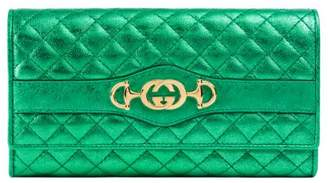 Gucci Laminated leather continental wallet