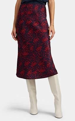 FiveSeventyFive Women's Floral Satin Midi-Skirt