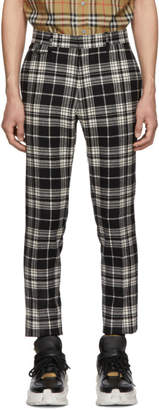 Burberry Black and White Check Serpentine Trousers