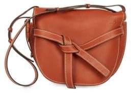 Loewe Women's Large Gate Leather Crossbody Bag - Rust