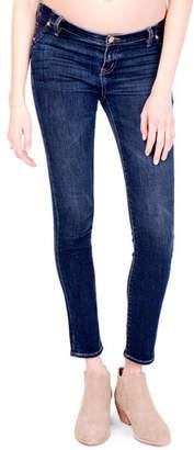 Ingrid & Isabel Maternity Sasha Skinny-Leg Denim Jeans with Inset Panels