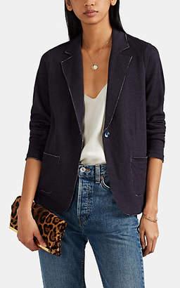 Barneys New York Women's Cotton-Cashmere One-Button Blazer - Navy