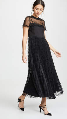 RED Valentino Sheer Maxi Dress