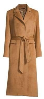 Sofia Cashmere Women's Baby Suri Alpaca& Wool Blend Boyfriend Wrap Coat - Camel - Size 10