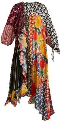 Biyan - Arista Patchwork Silk Blend Dress - Womens - Multi