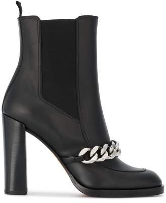 Givenchy Black Biker 105 Leather Ankle Boots